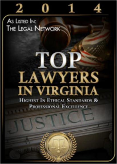 Top Lawyers in Virginia 2014 Award