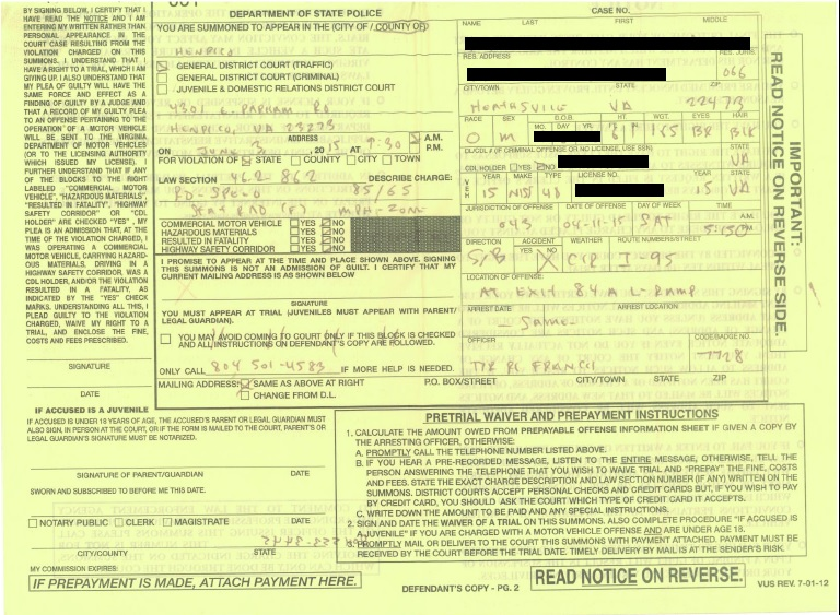 How to Intelligently Fight a Speeding Ticket