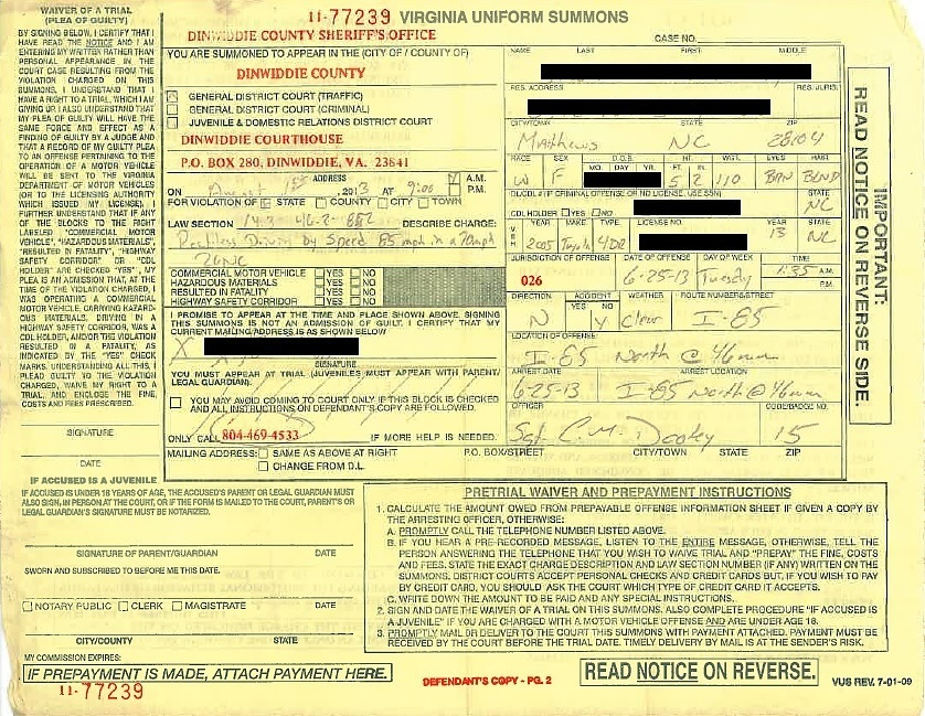 Speeding Ticket Ny >> Dinwiddie Va Speeding Ticket Lawyer Riley Wells