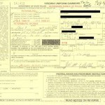 The motorist copy of a Petersburg VA speeding ticket